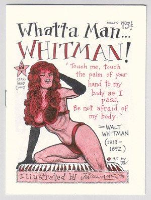 WHATTA MAN... WHITMAN mini-comic J.R. WILLIAMS 1995 Walt Whitman