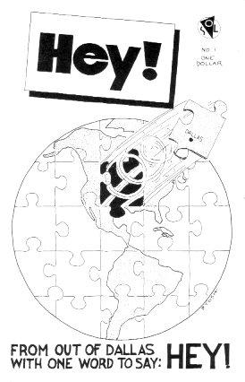 HEY #1 mini-comic D. TOSH Lee Burks R. CRUMB 1986 comix