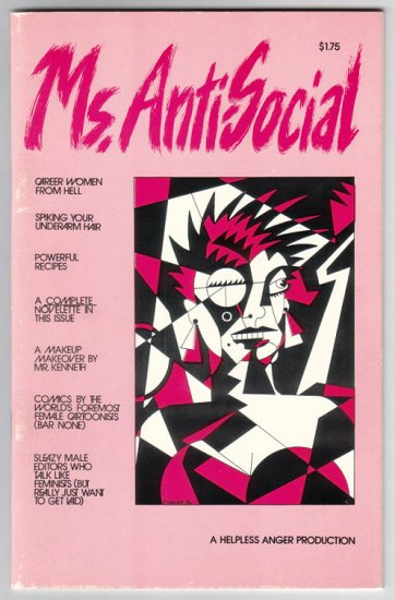 MS. ANTI-SOCIAL comix MARY FLEENER Tom Roberts 1986