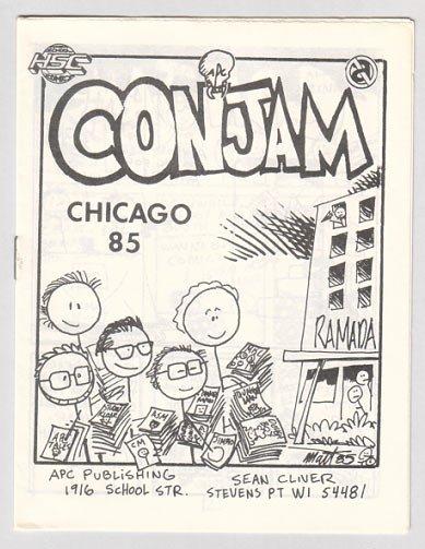 CONJAM CHICAGO 85 mini-comic MATT FEAZELL 1985