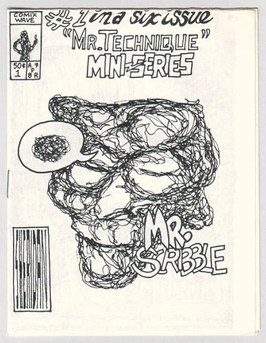 MR. SCRIBBLE mini-comic BOB SHERIDAN Comix Wave 1980s