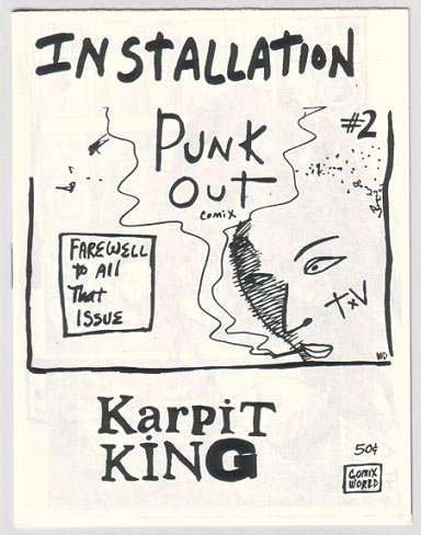 INSTALLATION PUNK OUT #2 mini-comic WILLIAM DOCKERY 1986