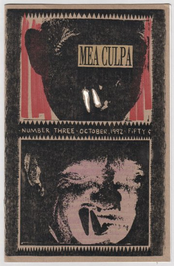 MEA CULPA #3 mini-comic JEFF JOHNSON 1992 comix