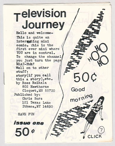 TELEVISION JOURNEY #1 mini-comic ROSS RAIHALA 1980s
