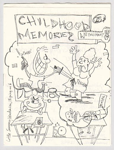 CHILDHOOD MEMORIES #3 mini-comic EARLY SAM HENDERSON 1988