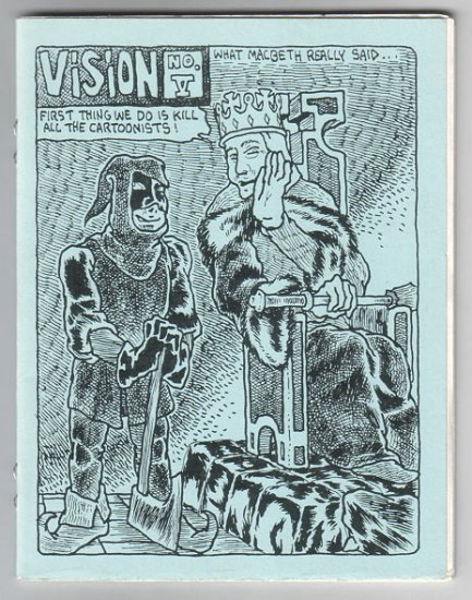 VISION #5 mini-comic PARSONAVICH 1980s mini comix