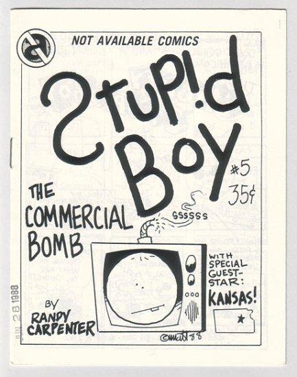 STUPID BOY #5 minicomic MATT FEAZELL 1988