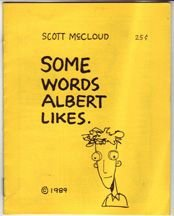 SOME WORDS ALBERT LIKES mini-comic SCOTT MCCLOUD 1989 *SALE 40% off