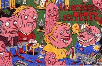 AL'INTERIEUR ...DES TETES mini-comic BLANQUET 1995 *SALE 40% off