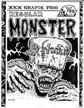 REGULAR MONSTER mini-comic XNO 1983 signed