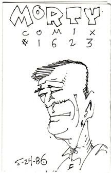 MORTY COMIX #1623 original art STEVE WILLIS 1986 *SALE 40% off