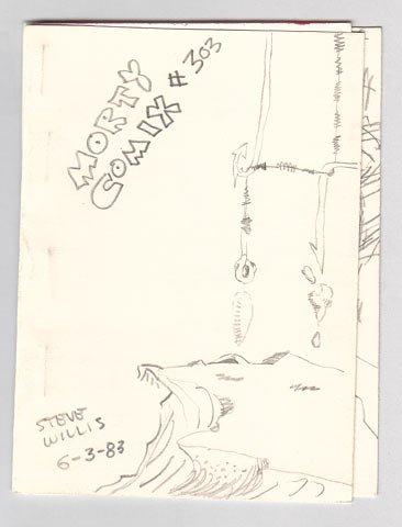 MORTY COMIX #303 original art STEVE WILLIS 1983
