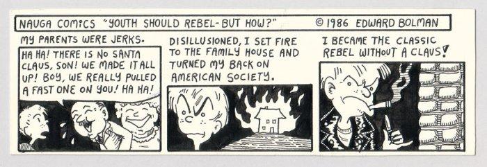 Edward Bolman ORIGINAL ART Nauga Comics 1986