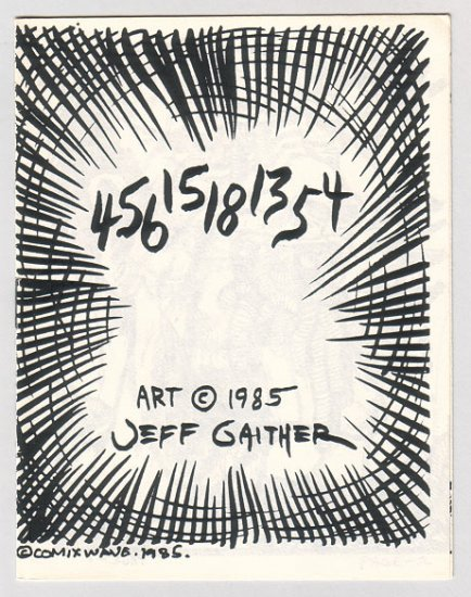 45615181354 mini-comic JEFF GAITHER 1985 comix