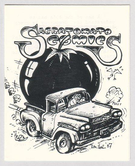 SACRATOMATO COMICS mini-comic STEVE WILLIS David Miller 1987