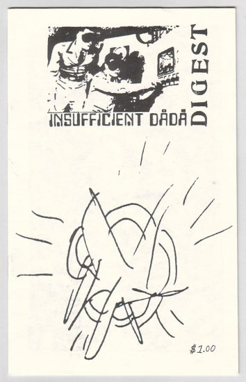 INSUFFICIENT DADA DIGEST mini-comic BILL SHUT Jamie Alder 1980s