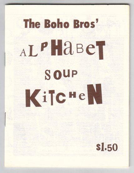 BOHO BROS' ALPHABET SOUP KITCHEN mini-comic EDWARD BOLMAN Wayno 1987