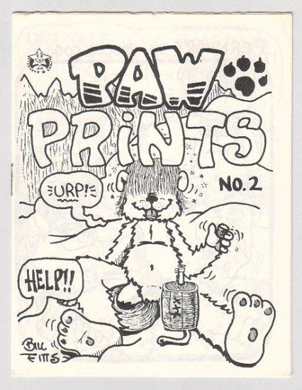 PAW PRINTS #2 mini-comic BILL FITTS 1985