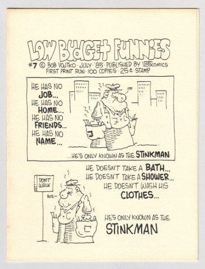 LOW BUDGET FUNNIES #7 mini-comic BOB VOJTKO 1985
