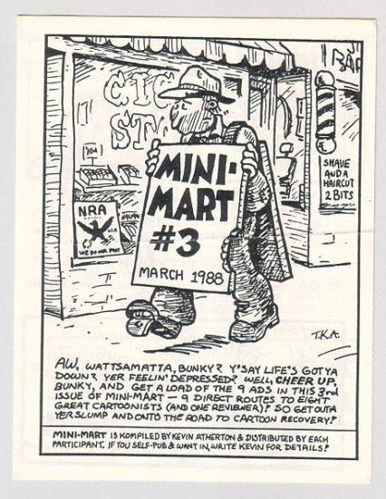 MINI-MART #3 minicomic T.K. ATHERTON 1988