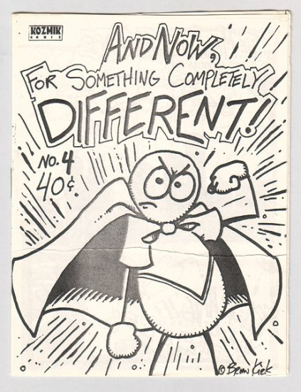 SOMETHING COMPLETELY DIFFERENT #4 mini-comic BRIAN KIRK 1987