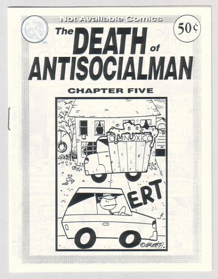 DEATH OF ANTISOCIALMAN #5 mini-comic MATT FEAZELL
