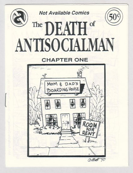 DEATH OF ANTISOCIALMAN #1 mini-comic MATT FEAZELL