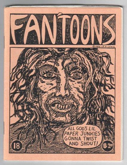 FAN'TOONS #18 mini-comic JEFF GAITHER Brad Foster STEVE WILLIS jam comix 1987