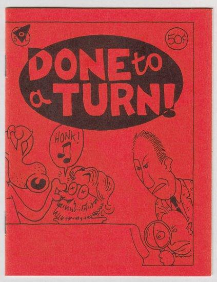 DONE TO A TURN mini-comic STEVE WILLIS David Tosh 1987