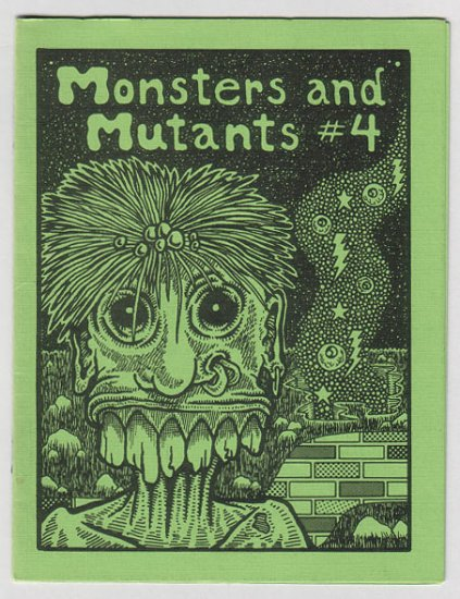 MONSTERS AND MUTANTS #4 mini JEFF GAITHER Michael Roden ugly art brut 1985