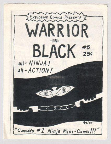 WARRIOR IN BLACK #5 Canadian mini-comic DAVID TOSH Hal Hargit 1987