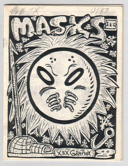 MASKS II mini-comic KAZ Mary Fleener PIZZ Michael Roden 1986 signed