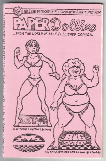PAPER DOLLIES mini-comic RANDY H. CRAWFORD 1990 paper doll comics