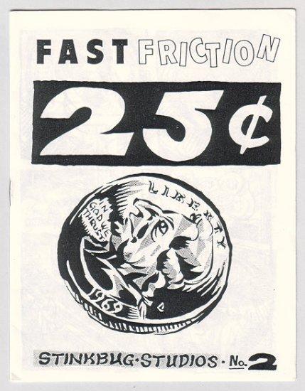 FAST FRICTION #2 mini-comic CHUCK BALDOCK 1992