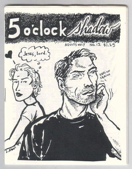 5 O'CLOCK SHADOW #12 mini-comic RON REGE Jessica Abel MATT FEAZELL 1995