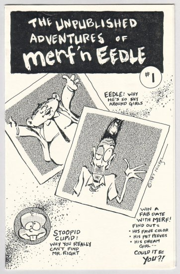 UNPUBLISHED ADVENTURES OF MERF 'N EEDLE #1 mini-comic SCOTT NICKEL 1987