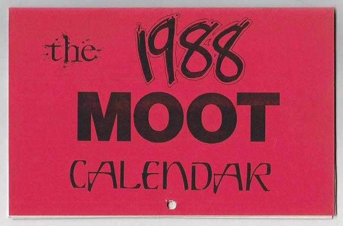 1988 MOOT CALENDAR mini-comic BRIAN KIRK