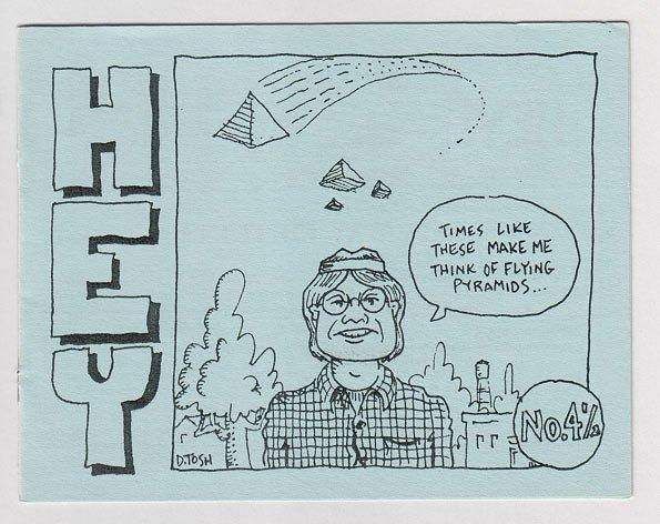 HEY #4-1/2 mini-comic D. TOSH 1988 comix