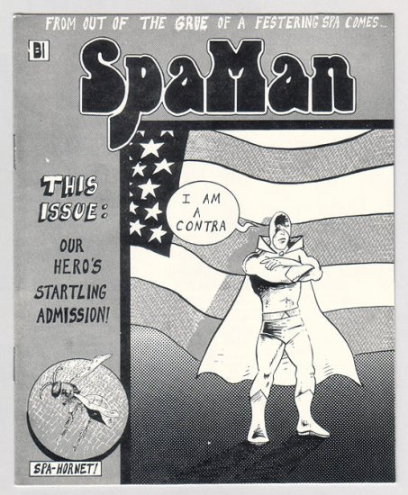 SPAMAN #2 mini-comic AL GREENIER underground comix minicomic 1986
