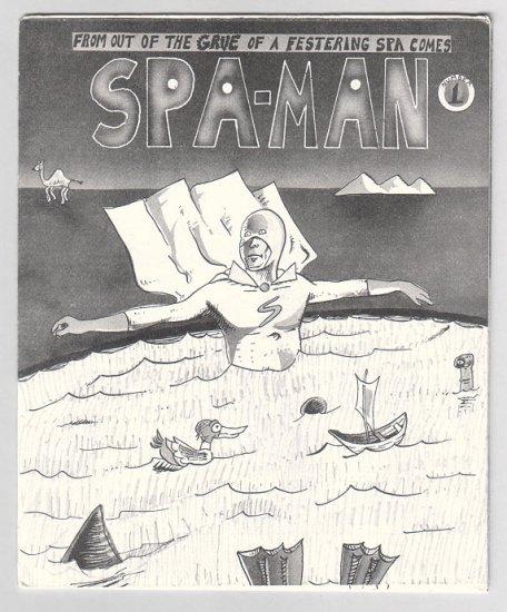 SPA-MAN #1 mini-comic AL GREENIER underground comix minicomic 1986