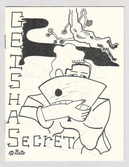 GEISHA SECRET mini-comic GATO GABRIEL 1980s signed