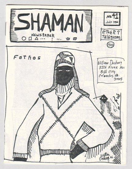 SHAMAN #41 mini-comic WILLIAM DOCKERY primitive art underground comix 1986