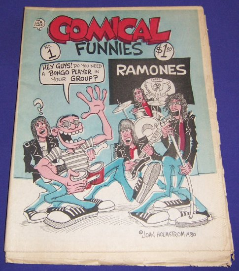 COMICAL FUNNIES #1 Peter Bagge JOHN HOLMSTROM 1980 underground comix