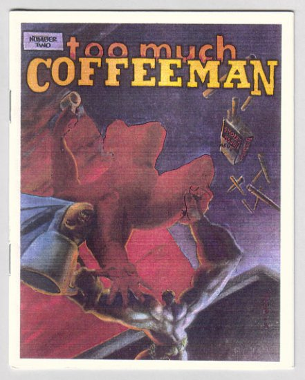 TOO MUCH COFFEE MAN #2 mini-comic SHANNON WHEELER 1991