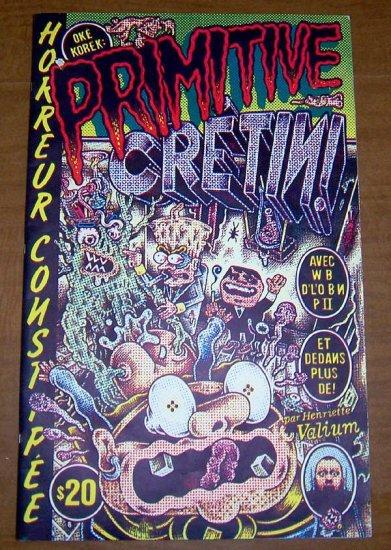 PRIMITIVE CRETIN giant silkscreened book HENRIETTE VALIUM early '90s