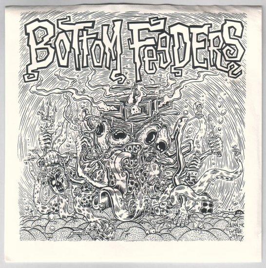 BOTTOM FEEDERS 7-inch single ALAN FORBES sleeve lowbrow art 1993