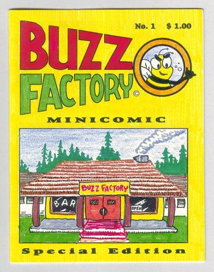 BUZZ FACTORY MINICOMIC #1 mini-comic D. TOSH Dave Mercer underground comix 1994