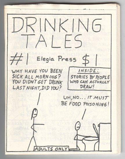 DRINKING TALES #1 mini-comic WAYNO Edward Bolman JOE HUTCHINSON 1988