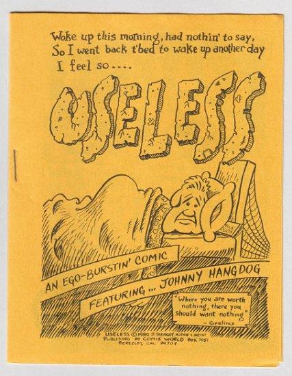 USELESS mini-comic JIM SIERGEY 1980 Comix World