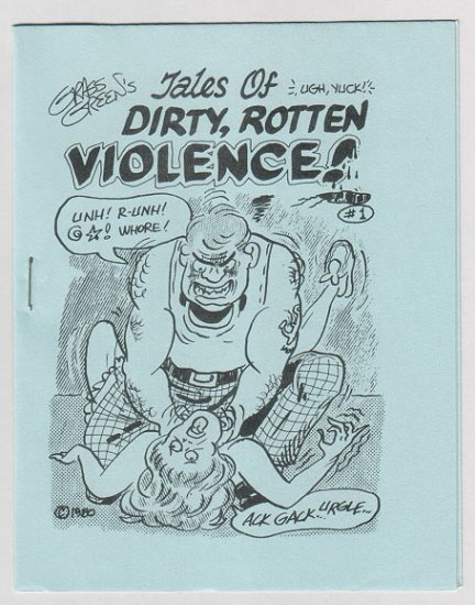 TALES OF DIRTY ROTTEN VIOLENCE mini-comic GRASS GREEN 1980